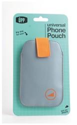 HOES POUCH UPP PHONE GRIJS/ORANJE -APPLE ACCESSOIRES PH-005