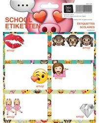 SCHOOLETIKET EMOJI GIRLS -SCHOOL ARTIKELEN 8712048291105