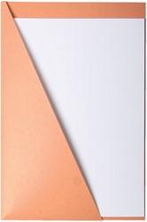 DRIEHOEKSMAP QUANTORE 219X330 225GR -HUISMERK MAPPEN 8351500-12009 CHAMOIS
