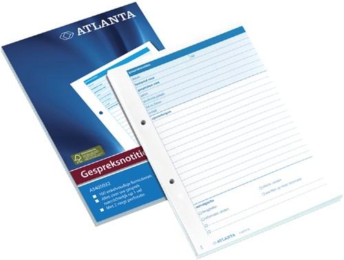 GESPREKSNOTITIEBLOK A5405-032 A5 100V -INFO REGISTRATIE 2540503200 Notitieblokken