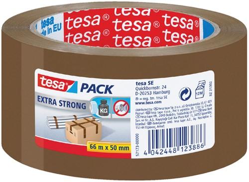 VERPAKKINGSTAPE TESA 57173 50MMX66M PVC -VERPAKKINGSPLAKBAND 57173-00000-03 BRUIN