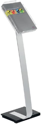 FOLDERSTANDAARD DURABLE INFOSIGN A4 -FOLDEROPBERGING 486323 ALUMINIUM
