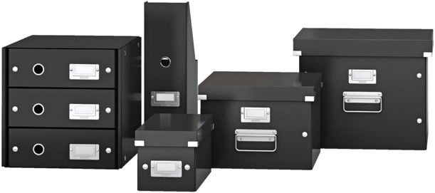 cd box leitz click store 127x124x320 datamedia opbergmiddelen 60410095 zwart bij. Black Bedroom Furniture Sets. Home Design Ideas