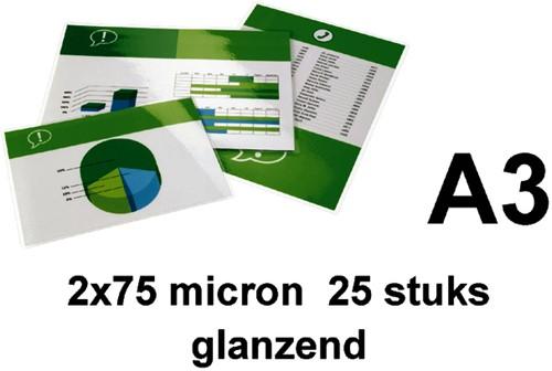LAMINEERHOES GBC A3 2X75MICRON GLANS -LAMINEERHOEZEN 3740486