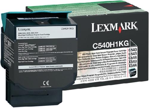 TONERCARTRIDGE LEXMARK C540H1KG PREBATE -LEXMARK TONER C540H1KG 2.5K ZWART