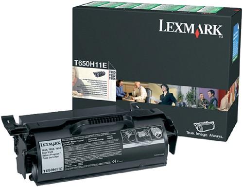 TONERCARTRIDGE LEXMARK T650H11E PREBATE -LEXMARK TONER T650H11E 25K ZWART