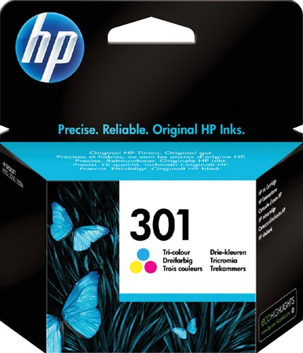 INKCARTRIDGE HP 301 CH562EE KLEUR -HP INKJET 1593425 Tri-colour