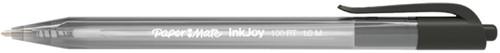 BALPEN PAPER MATE INKJOY 100 RT M ZWART -BALPENNEN WEGWERP S0957030 Zwart