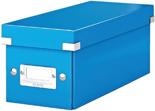 CD-BOX LEITZ WOW CLICK&STORE -DATAMEDIA OPBERGMIDDELEN 60410036 143X136X352MM BLAUW