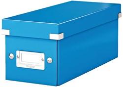 CD-BOX LEITZ WOW CLICK&STORE -DATAMEDIA OPBERGMIDDELEN 60410036 127X124X320MM BLAUW