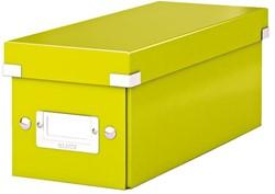 CD-BOX LEITZ WOW CLICK&STORE -DATAMEDIA OPBERGMIDDELEN 60410064 127X124X320MM GROEN