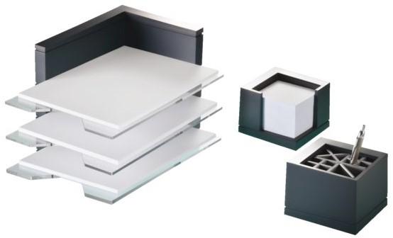 bureau set premium line 3 del antraciet brievenbakjes. Black Bedroom Furniture Sets. Home Design Ideas