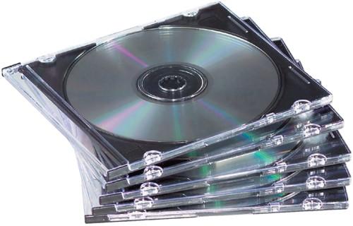 CD DOOS FELLOWES SLIMLINE TRANSPARANT -DATAMEDIA OPBERGMIDDELEN 98316 Cdopbergmiddel