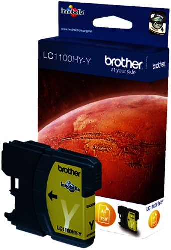 INKCARTRIDGE BROTHER LC-1100 HC GEEL -BROTHER INKJET LC1100HYY