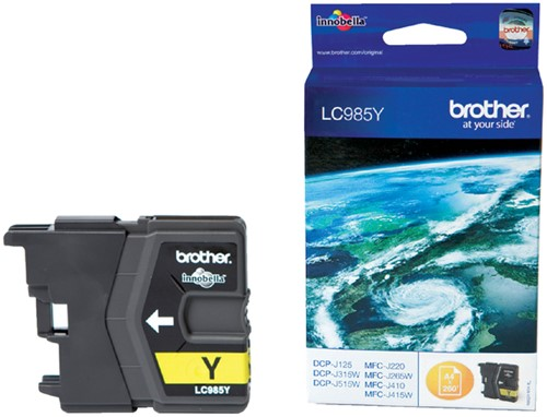 INKCARTRIDGE BROTHER LC-985 GEEL -BROTHER INKJET LC985Y