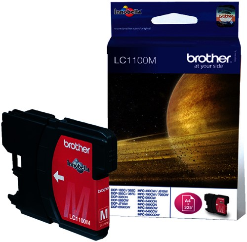 INKCARTRIDGE BROTHER LC-1100 ROOD -BROTHER INKJET LC1100M