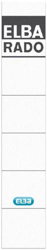 RUGETIKET ELBA 34X190MM WIT/GRIJS -RUGETIKETTEN 100551822 Rugetiketten