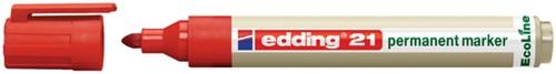 VILTSTIFT EDDING 21 ECO ROND 1.5-3MM -VILTSTIFTEN 4-21002 ROOD