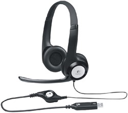 HEADSET LOGITECH H390 ON EAR USB ZWART -COMPUTER INTERACTIEF TOEBEH. LOG-981-000406