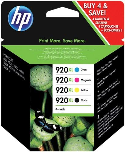 INKCARTRIDGE HP 920XL C2N92AE HC ZWART -HP INKJET 1890451 3 KLEUREN