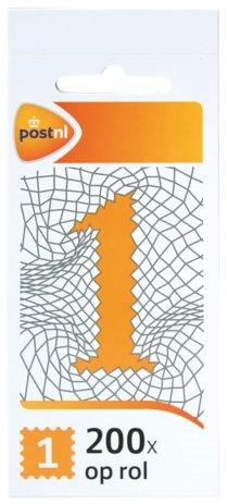 Postzegel nl waarde 1 zelfklevend 200 st -P24301 324301