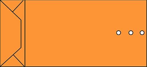 ENVELOP QUANTORE MONSTERZAK 120X285X50 -HUISMERK ENVELOPPEN 14016 120GR BRUIN