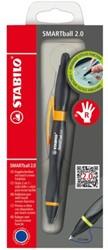 BALPEN STABILO SMARTBALL 2.0 RECHTS -BALPENNEN NAVULBAAR 1852/4-41-1 ZWART/ORANJE