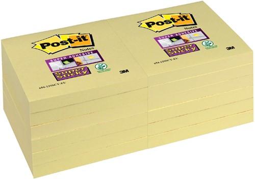 MEMOBLOK 3M POST-IT 654 76X76MM SS GEEL -MEMOBLOKKEN ZELFKLEVEND 654-SSY Memokubus la linea antraciet/zilver
