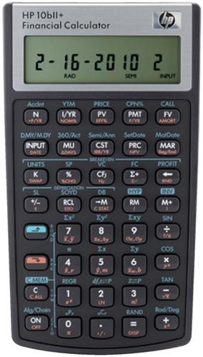 REKENMACHINE HP 10BII+ -TECHNISCHE REKENMACHINES NW239AA Bedrijfskundig