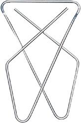 VLINDERCLIP LPC 57X50MM VERNIKKELD -PAPERCLIPS 20250 PAPERCLIPS