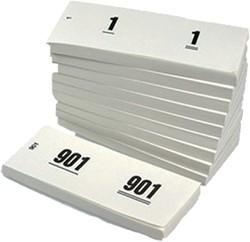 NUMMERBLOK 42X105MM NUMMERING 1-1000 -NUMMERBLOKKEN V.CLO.1060-W WIT 10STUK