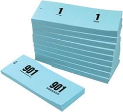 NUMMERBLOK 42X105MM NUMMERING 1-1000 -NUMMERBLOKKEN V.CLO.1060-B BLAUW 10STUK