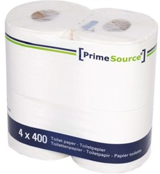 TOILETPAPIER PRIMESOURCE TISSUE 2LAAGS -SANITAIR PAPIERWAREN 61202 400 VEL