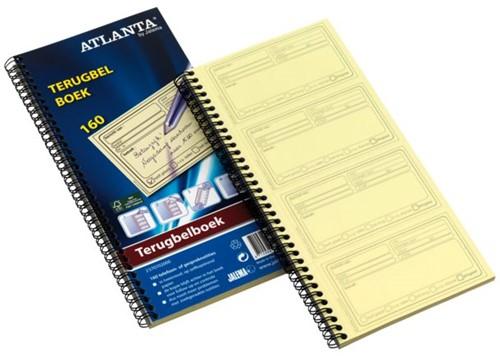 TERUGBELBOEK ATLANTA 74X128MM 400X2VEL -INFO REGISTRATIE 2541907000 NOTITIEBLOKKEN