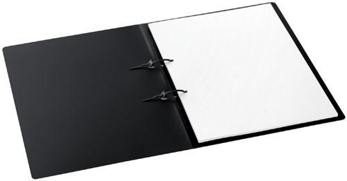 STRIPBINDER AVANTI A4 15MM 2 STRIPS -MAPPEN MET HECHTMECHANIEK 1500119 ZWART