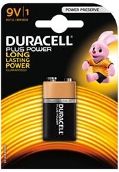 BATTERIJ DURACELL 9V PLUS POWER 50% -BATTERIJEN 5000394114685 ALKALINE