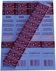 CONSUMPTIEBON COMBICRAFT UV BEVEILIGING -NUMMERBLOKKEN 390050 ROOD