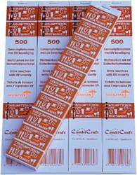 CONSUMPTIEBON COMBICRAFT UV BEVEILIGING -NUMMERBLOKKEN 390052 ORANJE