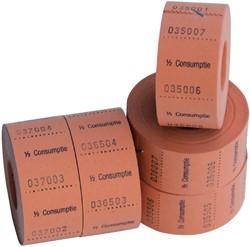 CONSUMPTIEBON COMBICRAFT 1/2 CONSUMPTIE -NUMMERBLOKKEN 390060 ORANJE