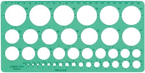 SJABLOON LINEX 1116S CIRKELS MET -SJABLONEN 100413074 INKTVOETJES