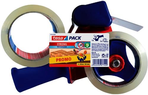 Handkartonsluiter tesa 50mmx66m 2rol -V7195-00000-01 57195-00000-01 Plakband