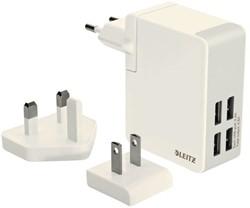 OPLADER WAND LEITZ COMPLETE USB 4PLUGS -TABLET EN PHONE LADERS EN ACC. 62190001 24WATT WIT