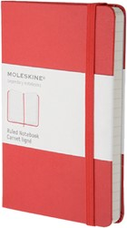 Moleskine Pocket Ruled Notebook Red -NOTITIEBOEKJES BTC IMMM710R RED