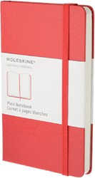 NOTITIEBOEK MOLESKINE BLANCO LARGE ROOD -NOTITIEBOEKJES BTC IMQP062R RED