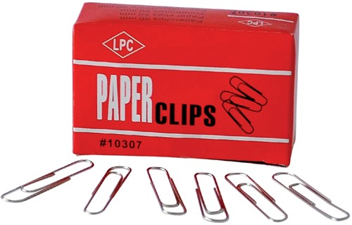 PAPERCLIP ROND 50MM VERZINKT -PAPERCLIPS 10307