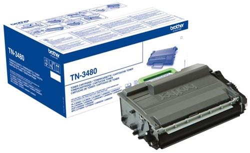 TONER BROTHER TN-3480 8K ZWART -BROTHER TONER TN3480 Tonercartrc