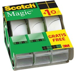 PLAKBAND 3M SCOTCH MAGIC 19MMX7.5M 2+1 -PLAKBAND EN PLAKBANDHOUDERS XA-0048-3590-7 GRATIS