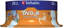 DVD-R VERBATIM 4.7GB 16X PRINTABLE 25PK -DVD'S 43538 SPINDEL
