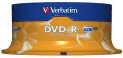 DVD-R VERBATIM 4.7GB 16X 25PK SPINDEL -DVD'S 43522 DVD