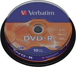 DVD-R VERBATIM 4.7GB 16X 10PK SPINDEL -DVD'S 43523 DVD